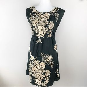 J Crew Grey Embroidered Mirabelle Dress